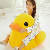 Fancytrader 39inch Giant Soft Cartoon Yellow Duck Toy Big Stuffed Plush Anime Ducks Doll Kids Sofa Chair Nice Gifts for Children