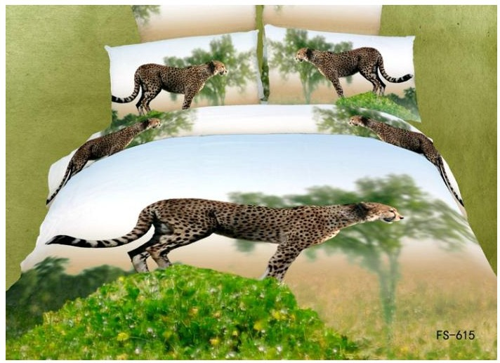 3d Leopard Cheetah Animal Print Bedding Sets Queen Size