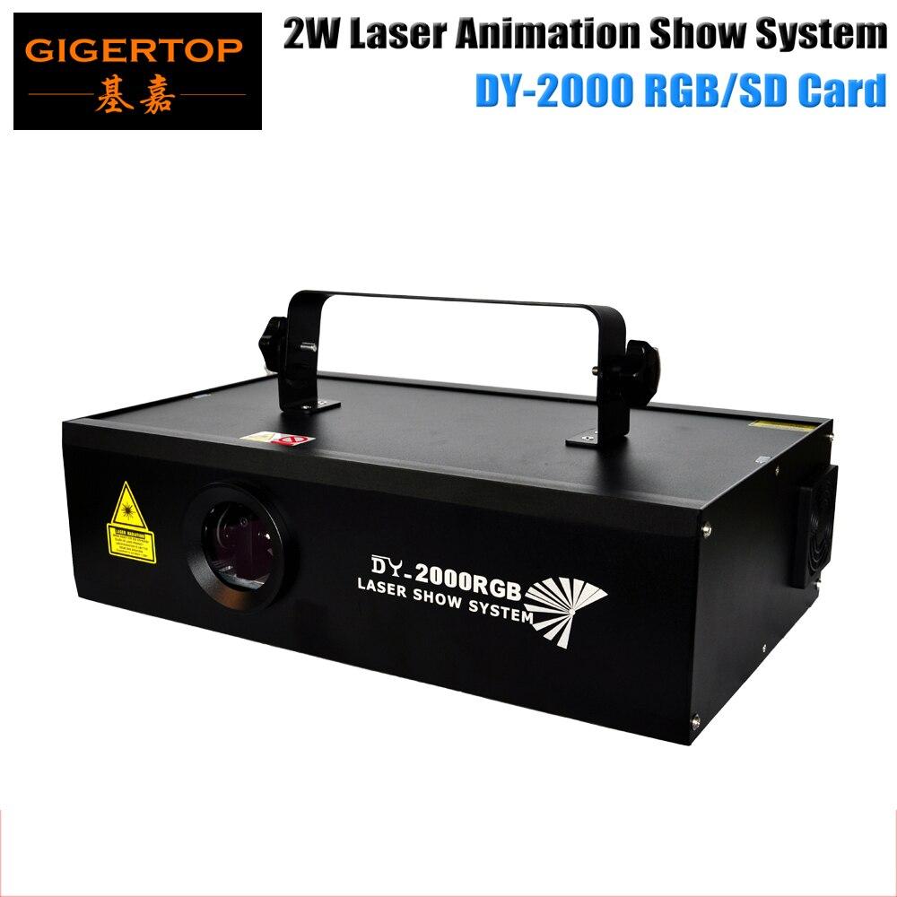 Good Quality 2000SD Animation Laser System DMX 12CH Sound sensitivity/Zoom adjust/ILDA IN ILDA OUT/DMX IN DMX OUT/Key Switch aucd fulcolor animation 12ch dmx512 ilda