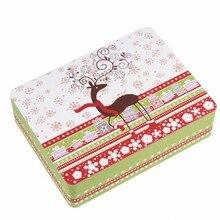 Новое поступление 240X180X66 мм рождественский стиль для конфет и ювелирных изделий бисквит металлический для хранения коробка контейнер коробка подарочная коробка