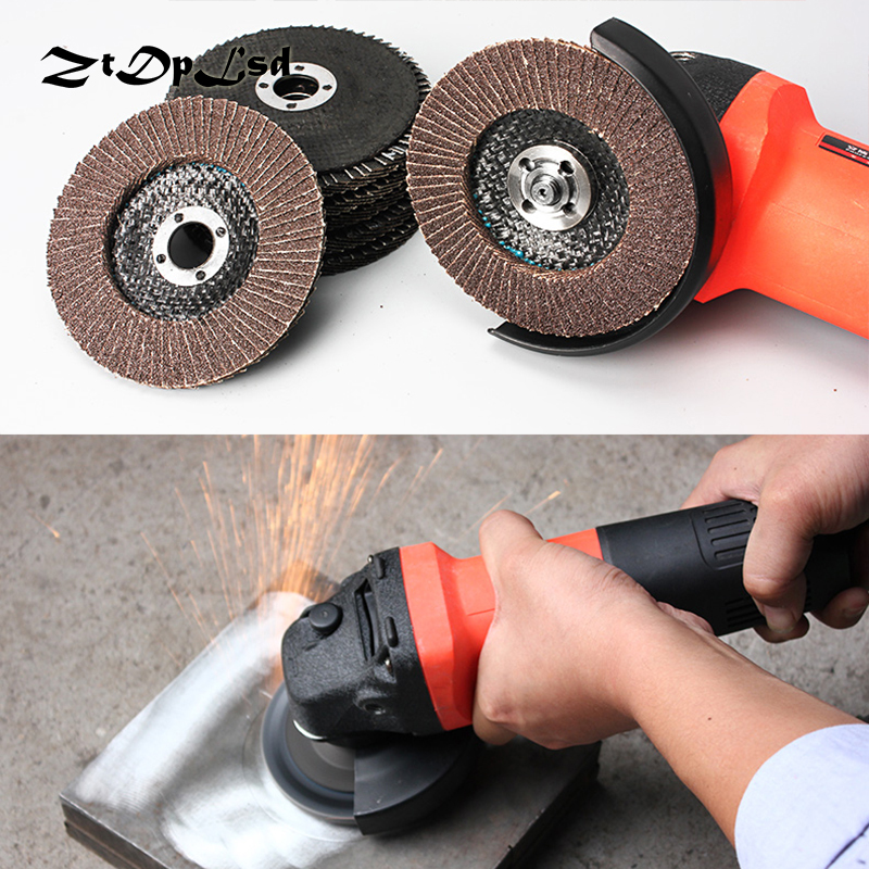 ZtDpLsd 1 Pcs Polishing Grinding Wheel Quick Change 100mm Sanding Flap Disc Grinding Wheel For Grit Angle Grinder Abrasive Tool