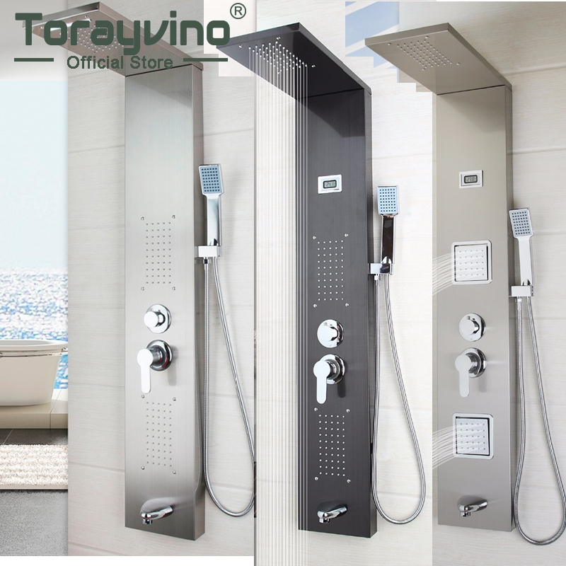 Torayvino Bathroom Stainless Steel Shower Column Wall ...