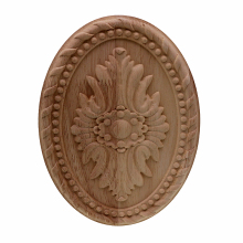hot deal buy vzlx dcarving furniture decoration european style solid wood round applique heart decorative flower figurines miniatures