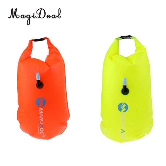 817afa27184c € 13.98 20% de DESCUENTO|MagiDeal Roll bolsa seca natación remolque  flotador seguridad Dispositivo de flotación para nadadores de aguas  abiertas y ...
