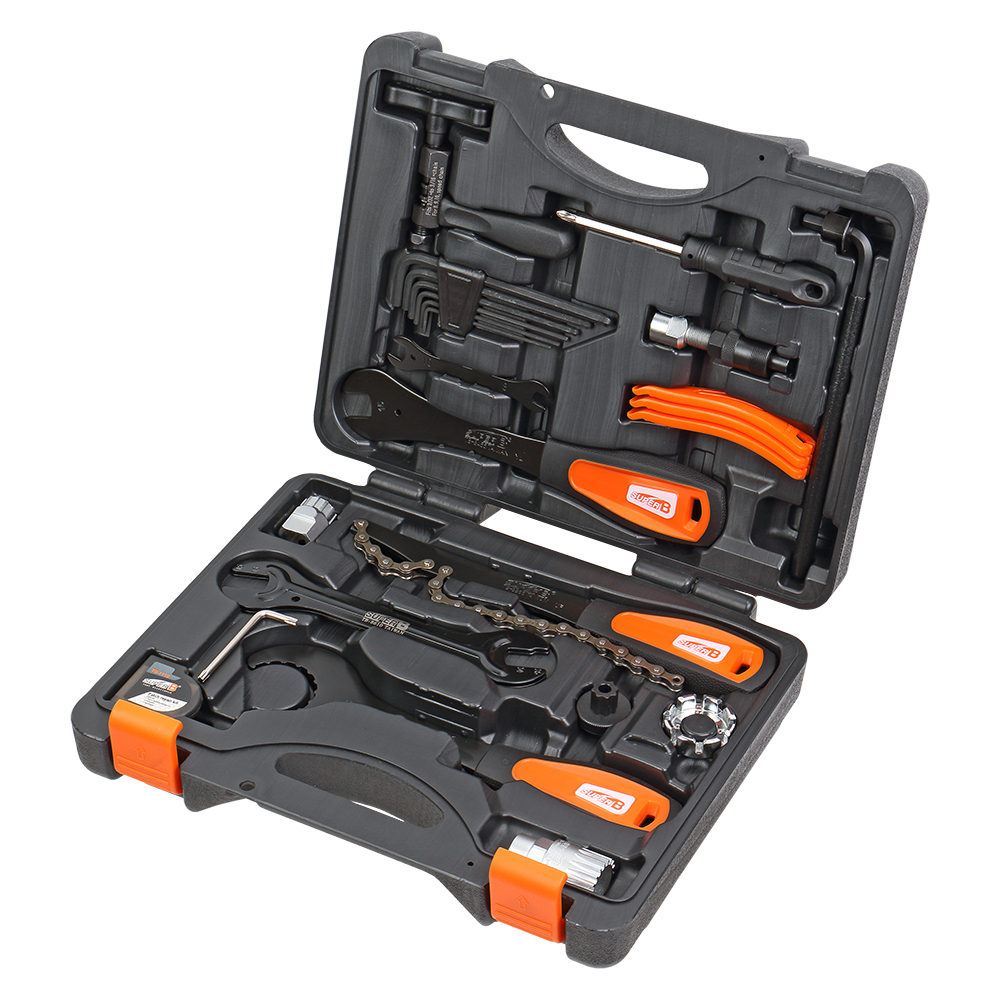 Super B TBA 500 Professional Bicycle Tool Sets Bike Repair Shop Tool Box 27 pcs Multifunction Bike Tool Blow Case B.B. Wrench|Bicycle Repair Tools| |  - title=