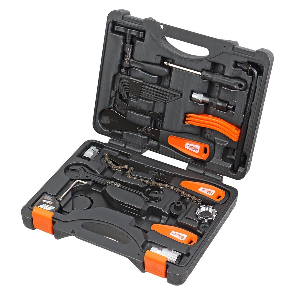 Super B TBA-500 Professional Bicycle Tool Sets Bike Repair Shop Tool Box 27 Pcs Multifunction Bike Tool Blow Case B.B. Wrench