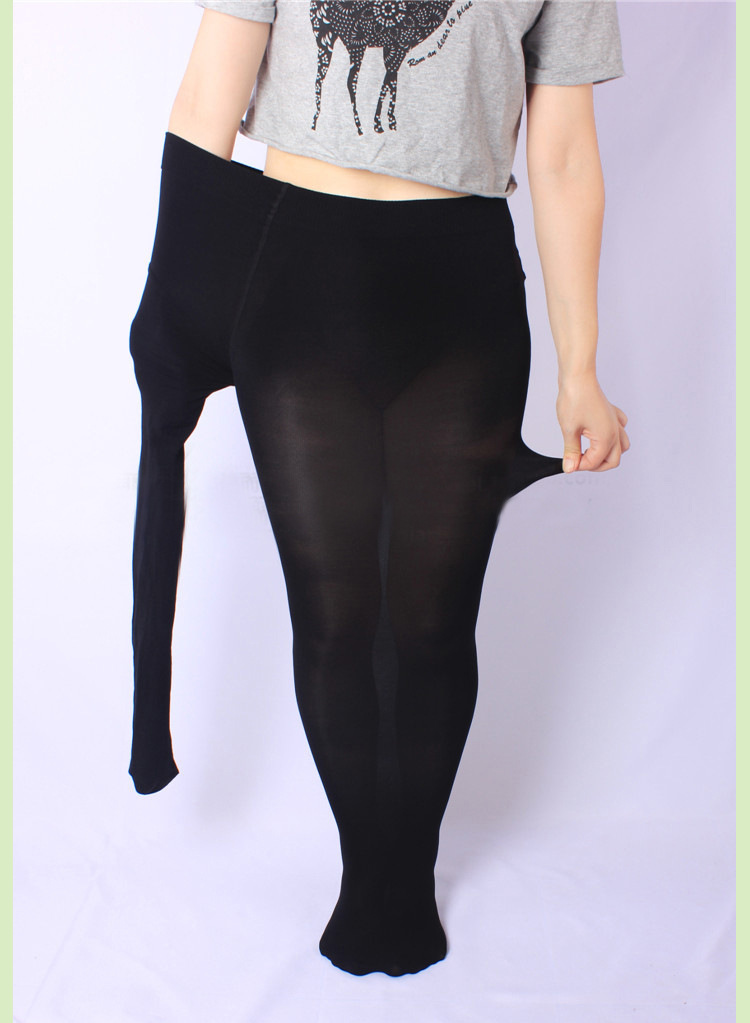 New Sexy Women Stockings High Waist Shiny Glossy Plus Big Size Stockings Club Dance Thigh Highs Tights Shaping Pantyhose