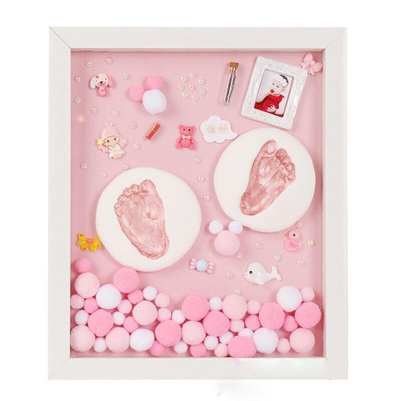Bricolage bébé Handprint Kit bébé articles pour nouveau-nés bébé cadeau Kit empreinte Non toxique argile coulée Kit bébé souvenir Souvenirs