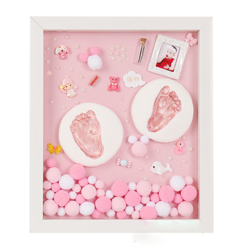 DIY Baby Handprint Kit Baby Items For Newborns Baby Gift Kit Footprint Non Toxic Clay Casting Kit Baby Keepsake Souvenirs