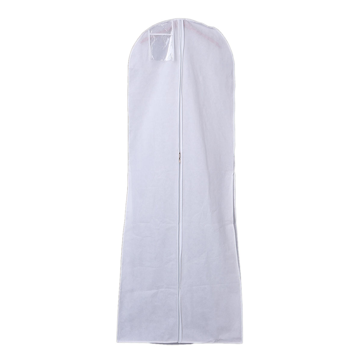 Hanging Wedding Dress Bridal Gown Garment Cover Storage Bag Carry Zip Dustproof White In Storage