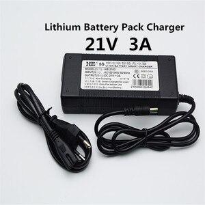 Image 1 - KingWei Gratis Verzending AC 100 V 240 V Converter Adapter DC 21 V 3A Voeding voor Lithium Batterij polymeer batterij oplader