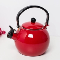 2 2L Thickening Enamel Whistling Kettle Boiling Water Kettle Gas Electromagnetic Stove Kettle Household