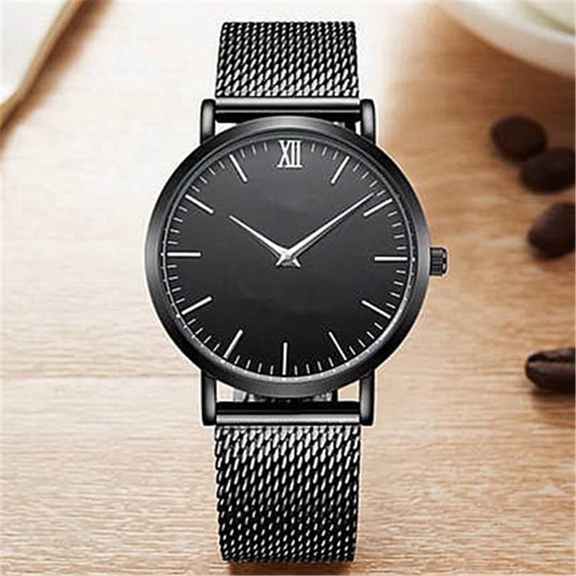 все цены на Stainless Steel Wristwatch Fashion Men watch Luxury Ctpor brand design Simple display clock male waterproof watches Reloj 2018 онлайн