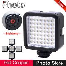 Na Câmera 49 LED Hot Shoe Luz de Vídeo de Preenchimento para DSLR Camera DV Camcorder Smartphone Telefone GoPro Acessórios de Iluminação de Fotografia