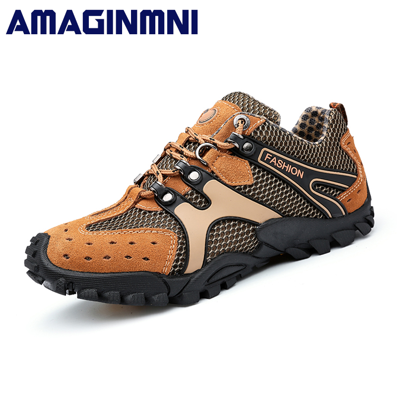 2018 Hot Sale Breathable Light Spring Summer Casual Sneakers Male Mesh Shoes For Men Cow Suede Leather Adult Walking Footwear