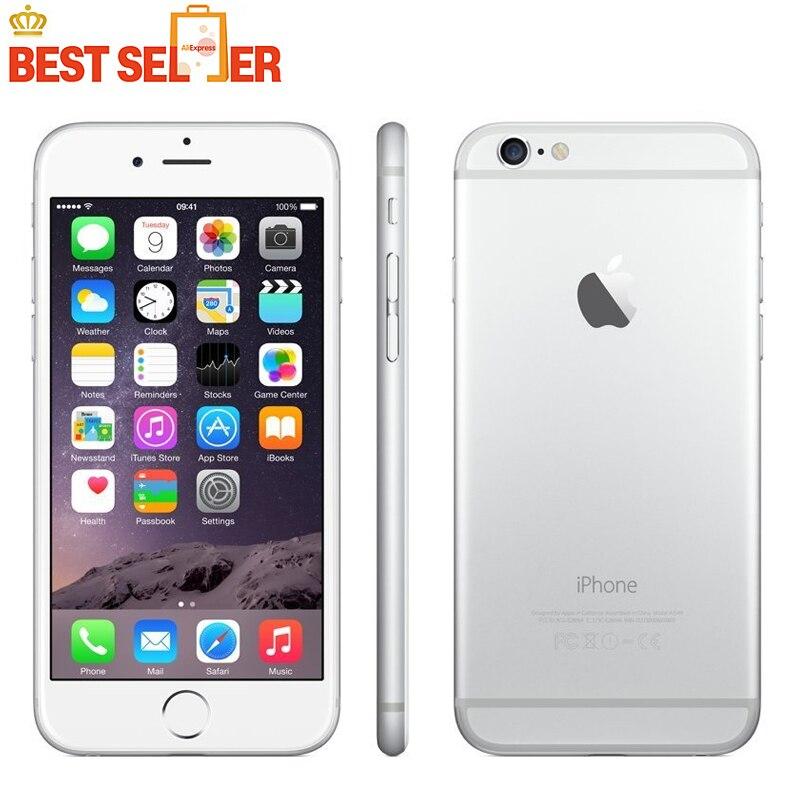 bilder für Entsperrt Apple iPhone 6 Handys 1 GB RAM 16 GB ROM 4,7 'IPS GSM WCDMA 4G LTE Verwendet Handy russische lager