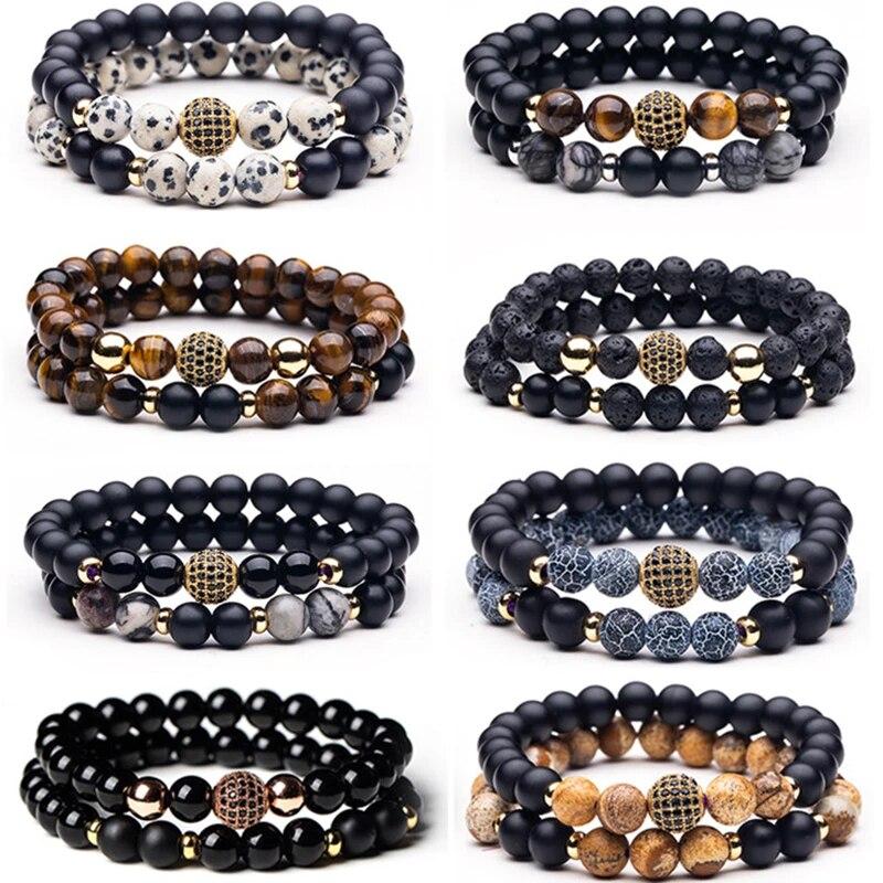 Men bracelet beads