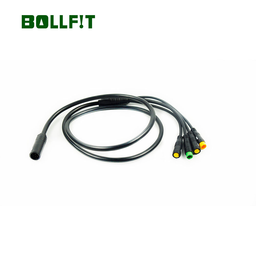Bollfit Bafang Waterproof 1T4 EB-Bus Cable For 8fun Mid Motor Display Brake Lever Thumb Throttle Connector
