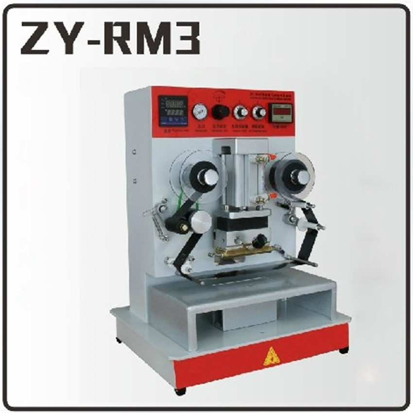 1PC ZY-RM3 Pneumatic hot stamping machine Leather embossing LOGO Branding machine 220V Vertical toauto digital hot foil stamping machine large 10x13cm logo embossing tool manual logo branding pvc card paper printing machine