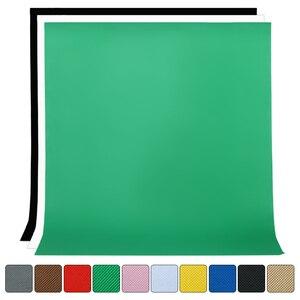Image 5 - Estúdio de fotografia, 1.6m x 2m/3m/4m não tecido fundo de fundo de cor sólida pano de maquiagem da tela preta verde branca