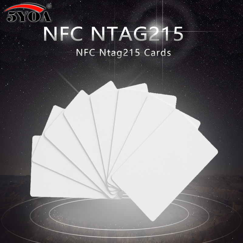 50pcs/Lot NTAG215 NFC Cards NFC Forum Type 2 Tag 13.56MHz ISO/IEC 14443 A RFID Card for All NFC Mobile Phone 50pcs nfc ntag215 13 56mhz 14443a nfc forum type 2 tag smart card rfid cards tags for nfc phone