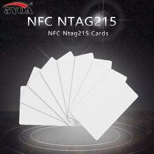 50 шт./лот NTAG215 карты NFC Forum Тип 2 тег 13,56 мГц ISO/IEC 14443 карты RFID для всех мобильных телефонов NFC