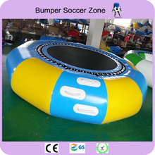 Free Shipping Dia 2m 0.9mm PVC Inflatable Water Trampoline Water Jumping Bed Jumping Trampoline For Sale