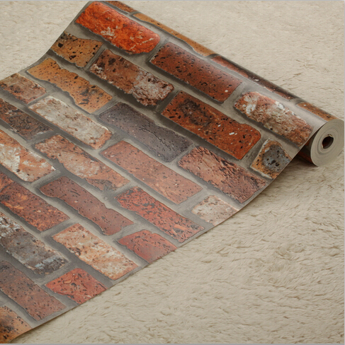 Chinese red bricks 3D wallpaper 3D retro brick mural wall paper Roll Living room bedroom TV Wall wallpaper background wallpaper chinese landscape wallpaper mountains waterfall fog house retro mural for living room bedroom sofa background wall vinyl paper