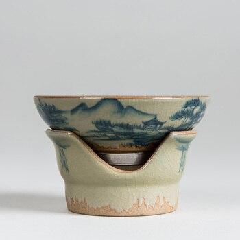 El Boyalı Çin mürekkep tarzı Seramik Çay Süzgeçler çay seti Taklit Antika Kung fu demlik porselen