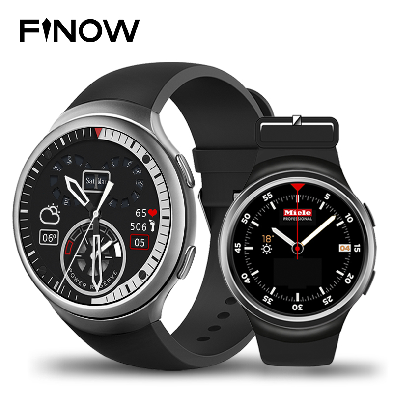 HOT Finow X3 Plus Smart Watch android K9 PK KW88 DM368 Android 5.1 MTK6580 1GB+8GB Quad Core Smartwatch Heart Rate iOS Android smart watch smartwatch dm368 1 39 amoled display quad core bluetooth4 heart rate monitor wristwatch ios android phones pk k8