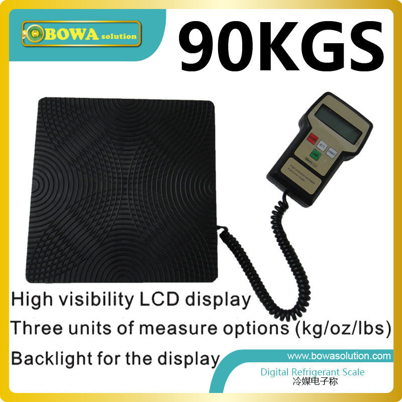 90Kgs capacity Digital refrigerant scale for HVAC and refrigeration ( refrigerant charging scale) 90kgs capacity digital refrigerant scale for hvac and refrigeration refrigerant charging scale