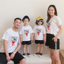 2019 Summer Family Matching Outfits Dad Mother Daughter Son 100%Cotton T-Shirt F