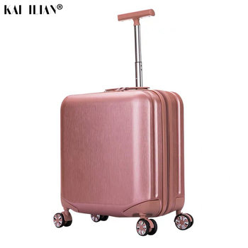 18''20 inch travel suitcase Cabin luggage spinner wheels Rolling luggage carry on Trolley luggage for kid girls travel bag фото