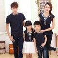 T-shirt mamãe e me roupas para mãe e filha roupas roupas mãe e filha combinando arcos de estilo chinês de manga curta de algodão