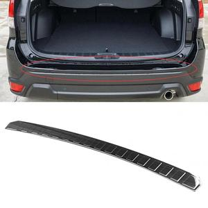 Car Rear Outer Bumper Trunk Guard Cover Fit for Subaru Forester SK 2019 Stainless Steel Rear Outer Trunk Cover