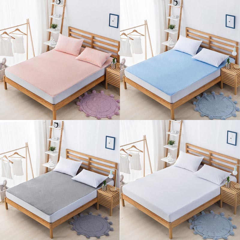 100% Cotton Antibacterial Mattress Protector Cover Removable Fitted Sheets Bed Cloth Waterproof And Breathable Mattress Covers