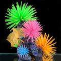 Silicona Aquarium Fish Tank artificial coral planta subacuática ornamento decoración 1 unids