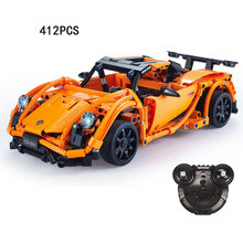 Germany famous brand horse logo Pors 918 2.4Ghz radio remote control super sport cars building block racing model bricks rc toys(China)