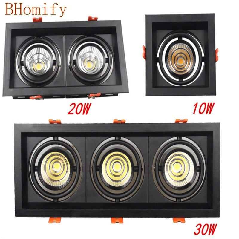 10w 20W 30w Led COB Downlight Dimmable AC85-265V AC220v AC110v Recessed Led Lamp panel Ceiling Spot light Indoor lighting