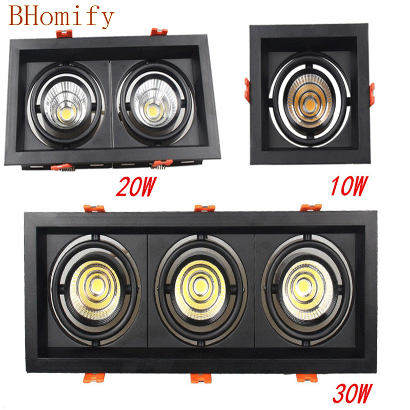 10w 20W 30w <font><b>Led</b></font> COB Downlight Dimmable AC85-265V AC220v AC110v Recessed <font><b>Led</b></font> <font><b>Lamp</b></font> panel Ceiling Spot light Indoor lighting