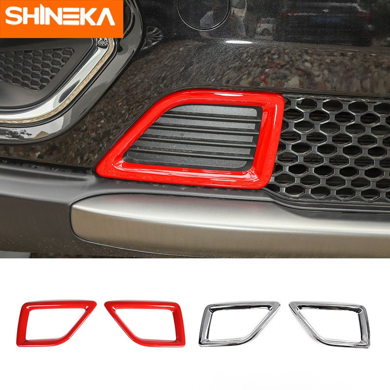 SHINEKA Chromium Styling For Jeep Cherokee ABS Car Front Bumper Air Intake Inlet Decoration Stickers For Jeep Cherokee 2019 Up