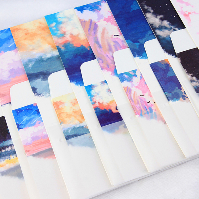 5pcs Lot Colored Sky Envelope Writing Paper Stationery Kawaii Birthday Christmas Card Envelopes School Supplies
