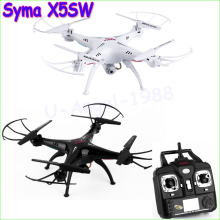 Syma x5sw wifi fpv 2.4 ghz 4ch 6-axis rc quadcopter drone rtf 0.3mp cámara hd blanco negro