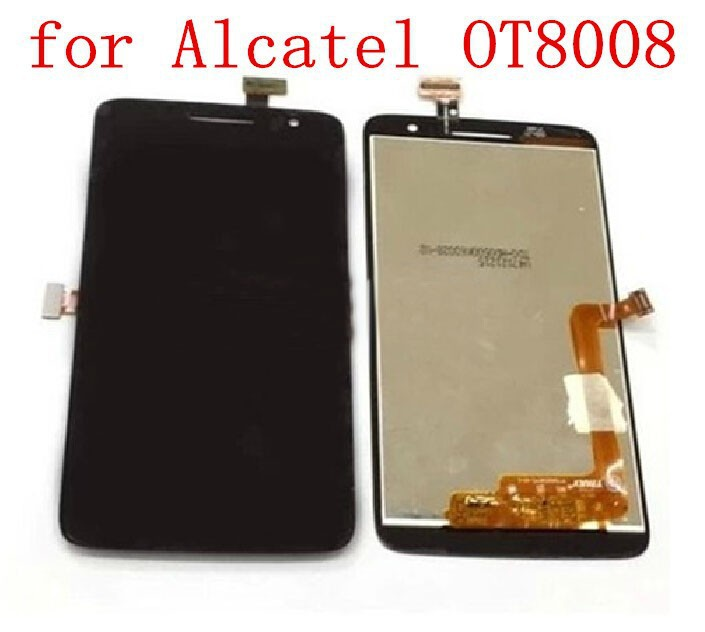 100 Original Replacement LCD Display Touch Digitizer Screen Assembly For Alcatel OT8008 OT 8008A 8008W 8008D