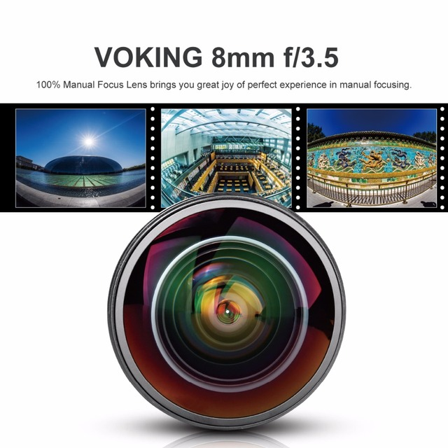 Vk 8Mm F3.5 Fisheye Ultra Wide Lens