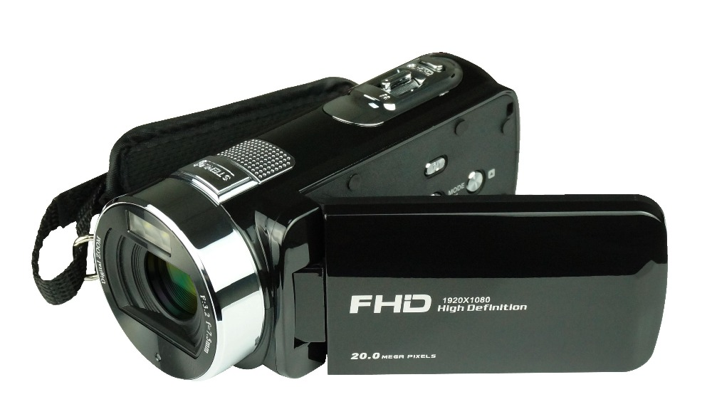 Freeshipping pro camcorder digital HDV-F6 face beauty DIS built-in LED light multi languages with rechargeable lithium battery