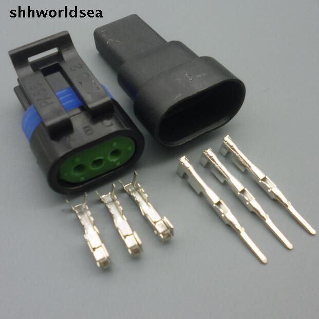 Shhworldsea 5/30/100 комплекты Комплект 1,5 мм 3 P мужской женский авто проводов разъем катушка зажигания 12162182/12162185