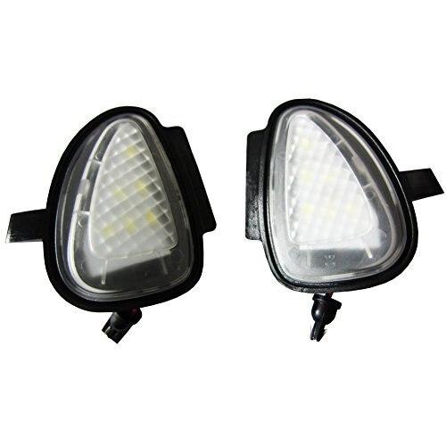 2pc Error Free Golf6 Leaf Mirror light OEM Fit LED Under Side Puddle Side Light for Volkswagen Mk6 6 Mkvi Gti Cars