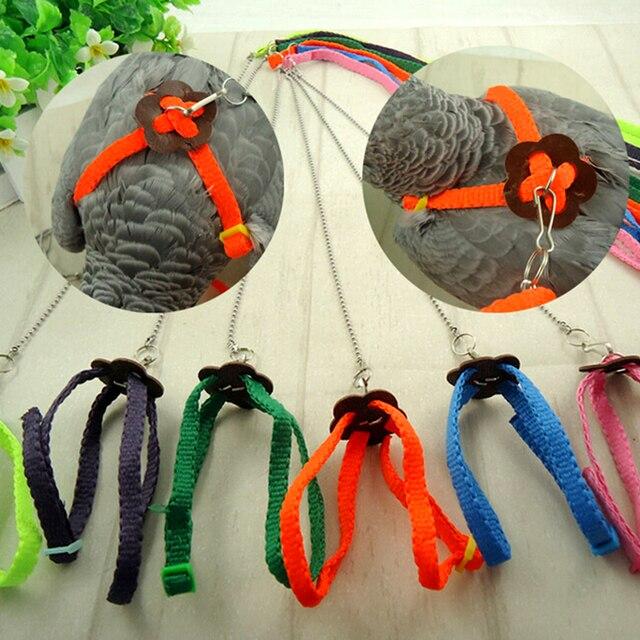 Moda Pet Harness & Leash Ajustável Luz Suave Cor Aleatória Do Pássaro do Papagaio Aves Ferramentas