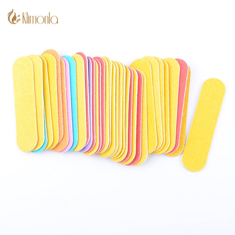 100pcs/Lot Mini Double Side Colorful Nail File Nail Polish Tools Manicure Products Set UV Gel 180/240 Nail Sandpaper Tools
